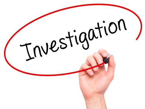 Investigation sign