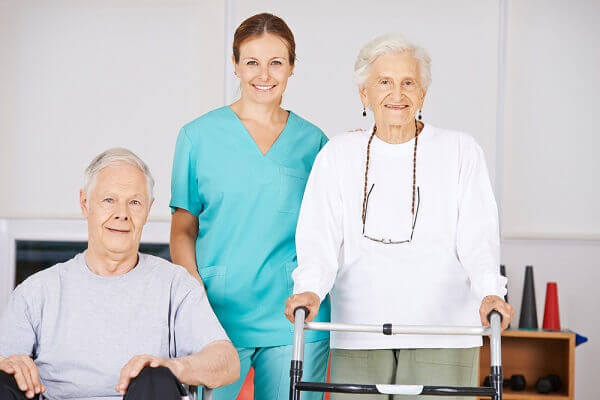 healthcare worker and residents