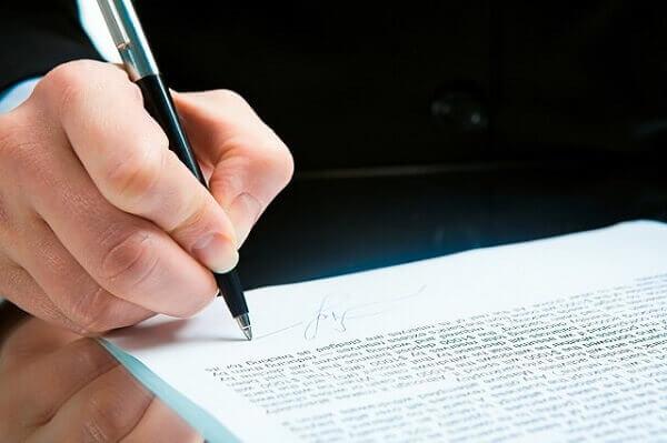 signing severance agreement