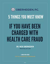 Image of book cover for 5 Things You Must Know If You Have Been Charged With Health Care Fraud