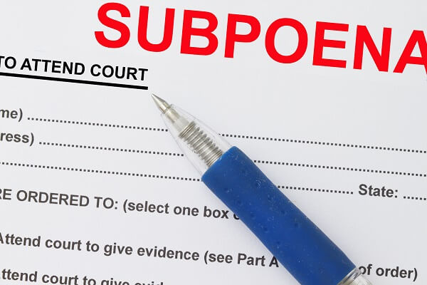 subpoena served in person